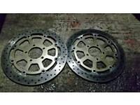 Gold gsxr brake discs