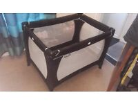 Unisex black baby child travel cot bed