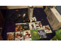 Xbox 360 Bundle (2 Official Controllers, 17 Games ) Minecraft, Crash Bandicoot, Saints Row
