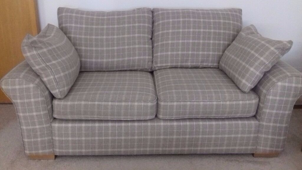 Beige And Cream Checked Sofa From Next