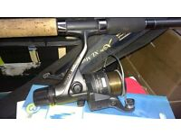 Shakespeare Xcede XL Match 390 rod with shimano reel