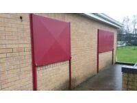 3 Steel security window shutters