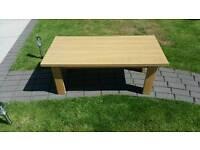 Oak vennier coffee table