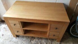 Solid Oak TV Unit £70