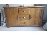 Next hartford solid pine sideboard