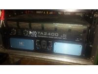 T.Amp TA2400 MK-X for sale - 2 x 1200 W @ 4 Ohm