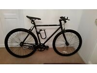 BRAND NEW STATE BICYCLE CO MATT BLACK 5.0 FIXED GEAR BIKE AND ACCESSORIES