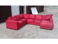Red fabric corner suite