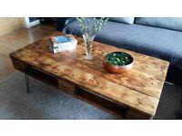 handmade reclaimed wood Pallet coffee table