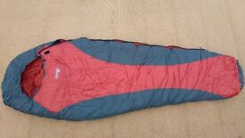 Blacks Quad 4 Mummy Sleeping Bag & Cotton Liner - 4 Season - Excellent Condition (Hardly Used)
