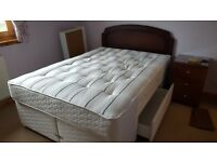 Double Dreams Divan Bed Base and Dark Mahogany Headboard - available for sale separately.