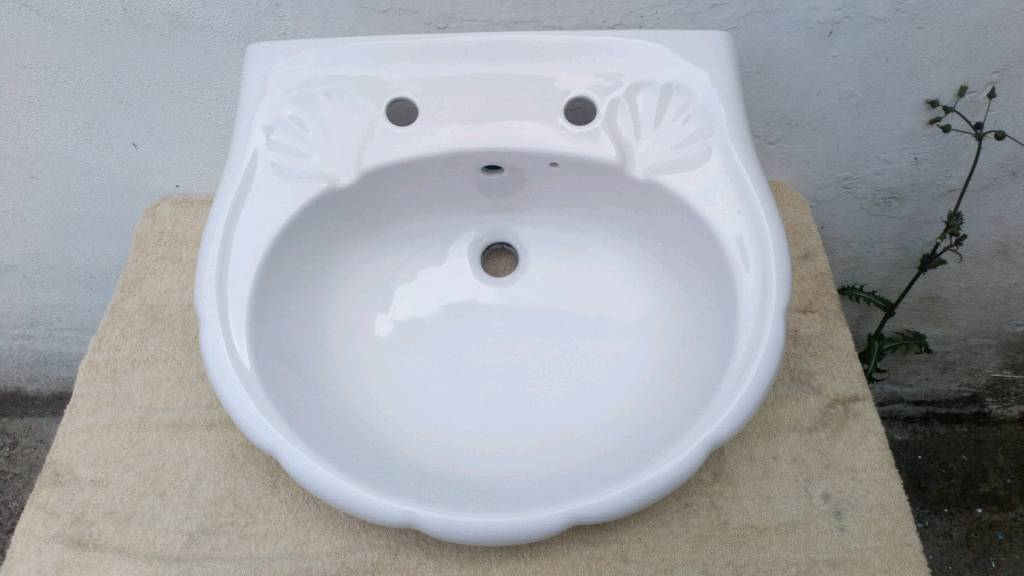 Twyfords Caradon W88512 S Design White Bathroom Sink Wash Basin