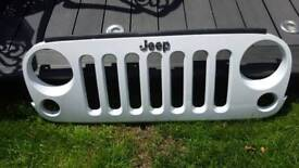 Jeep wrangler front grill. White. New condition.