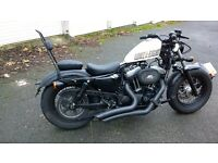 2014 Harley Sportster 48, Stage 1, Vance&Hines Big Radius 2-into-2, full service history plus extras