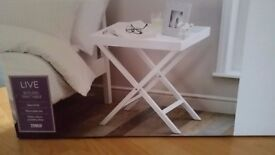 Brand New White gloss side table
