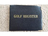 GOLF REGISTER - NEVER USED