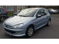 1.4 peugeot 206 petrol manual 2007 mot19/4/17 hpi clear 1 owner 3 months warranty 12 month aa cover