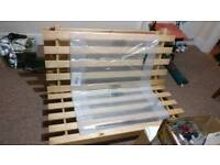 Sofa bed with mattress wooden frame