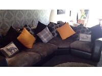 Large grey and black corner Sofa *price reduced for quick sale*!!