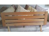 Solid oak double headboard