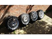 "16"" inch 4x ALLOY WHEELS with TYRES 4x108, 195/45/ & 205/45 for cars Peugeot, Ford, Citroen, Audi !"