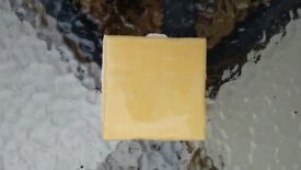Bright Sunshine yellow, 10cm square wall tiles....used. Collection only