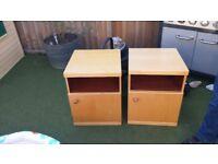 2 x Solid Oak Bedside Tables