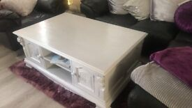 Upcycled coffee table. Solid oak
