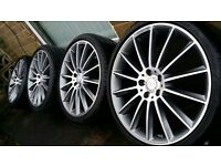 "mercedes alloy wheels genuine 245/35/20"""