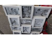 Large White Multi Picture Photo Frame