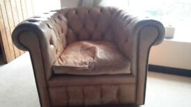 Leather Chipperfield style armchair