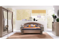 Bedroom set (bed, wardrobe, chest of drawers)