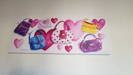 2 paintings for a girls bedroom.