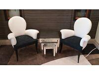 Stunning pair of chairs by Roberto Ventura RRP £850