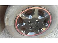 Ford alloy wheels/new tyres refurbished escort van fiesta van transit connect