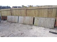 3 fence pannels. Different sizes FREE