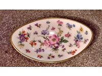 Small oval floral plate by Lindner