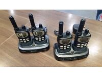Binatone Action 850 Long Range Two Way Radio Quad Pack in Black / Grey.