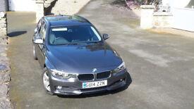 BMW 320D 2.0 DIESEL TOURING- LEATHER SEATS, SAT NAV, START/STOP
