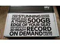 Sky tv box 3D + HD 500gb with the Sky mini wireless connector - Fantastic conditon!