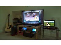 46 inc SHARP LED TV with PANASONIC soundbar/subwoofer