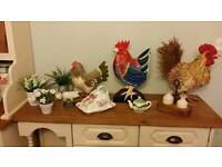 Country kitchen collection chickens