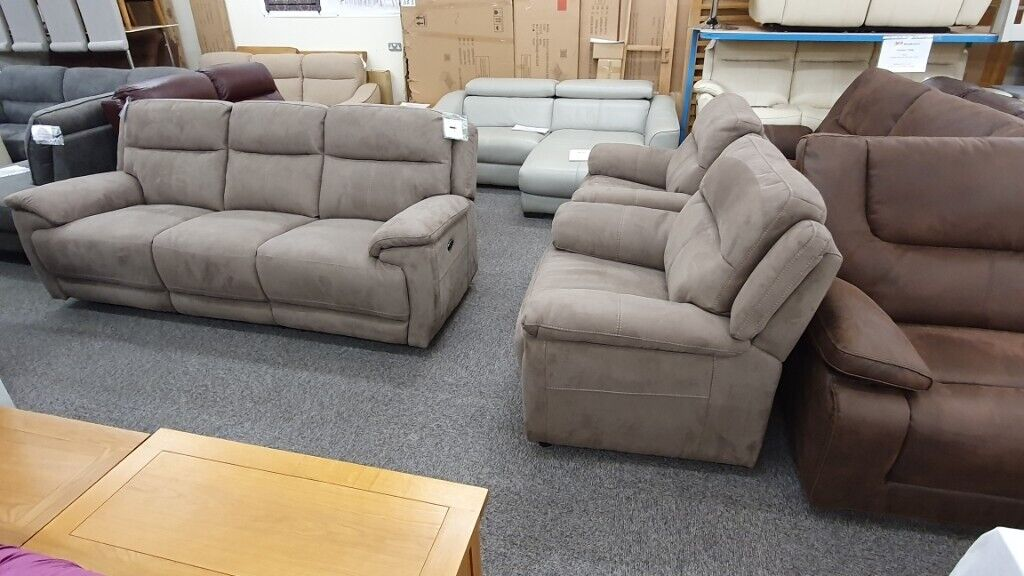 Furniture Village Touch Fabric 3 Seater Electric Recliner ...