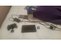 PS2 Slimline - with one controller - all wires contained