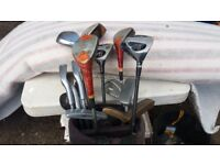 Old golf clubs wilson/dumlop will sell in singles or complete comes with bag.