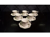 ETERNAL BEAU set of 6 tea cups and saucers