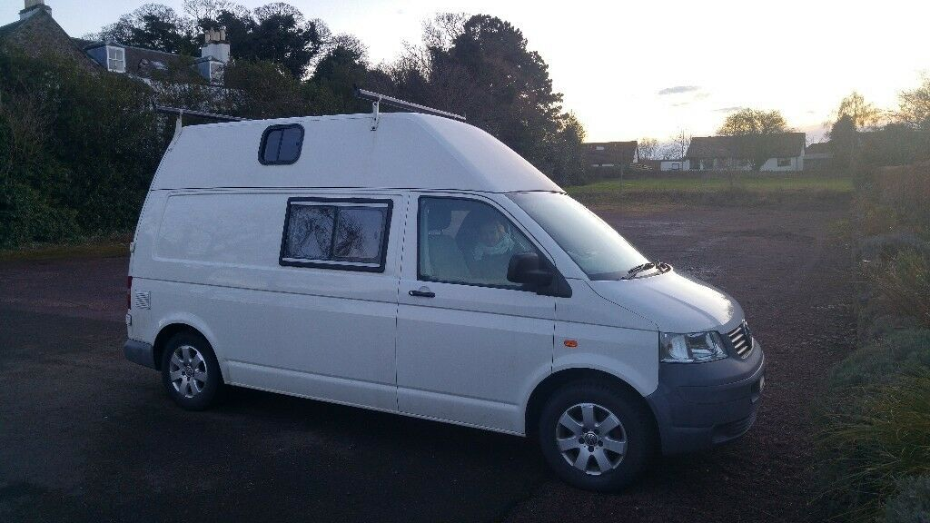 VW Volkswagen Transporter T35 High Top 2 Berth 3 Travelling seats*FSH* Campervan Solar power+Heater