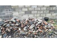 House brick and stone rubble