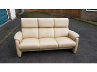 Barker & stonehouse Stressless leather sofa.Excellent condition.