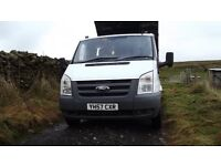 Ford transit Tipper 2402 tdci 57 plate FULL NEW TEST,New tyres ,recon engine at 120k,no known faults